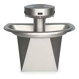 Bradley Wash Fountain, Semi-Circular,110/24 VAC, Series SN202, 3 Person