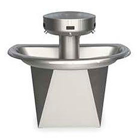 Bradley Wash Fountain, Semi-Cicular, 110/24 VAC, Series SN202, 3 Person