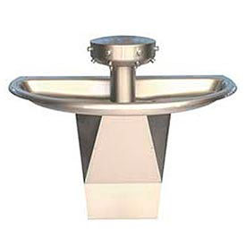 Bradley Wash Fountain, Semi-Circular, Off-line Vent, Series SN202, 4 Person