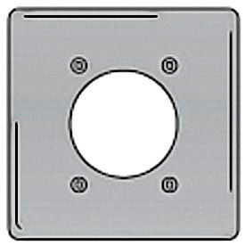 Bryant SS703 Single Receptacle Plate, 2-Gang 1 Device-Gang, Standard, Satin Stainless
