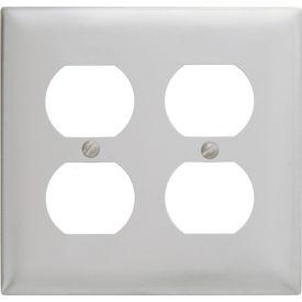 Bryant Ss82 Duplex Plate, 2-Gang, Standard, Satin Stainless - Pkg Qty 10