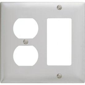 Bryant SS826 Duplex Styleline Combo Plate, 2-Gang, Standard, Satin Stainless