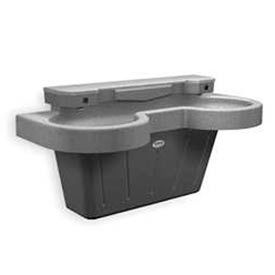 Bradley Lavatory System, Two Station Sink, Series SN202, 2 Person