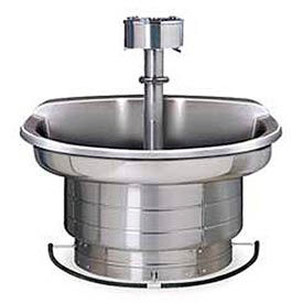 Bradley Wash Fountain, 36 In Wide, Semi Circular, Series WF2703, 3 Person