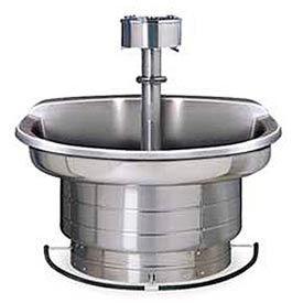 Bradley Wash Fountain, 54 In Wide, Semi Circular, Series WF2704, 4 Person Sink