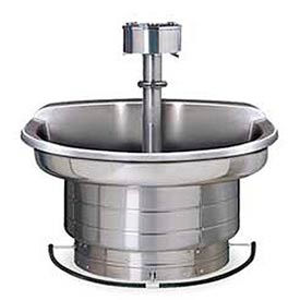 Bradley Wash Fountain, 54 In Wide, Semi Circular, Series WF2704, 4 Person