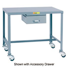 Little Giant®   Machine Table, 24 x 48 x 18, Swivel Casters w/Brakes