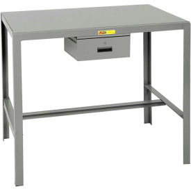 Little Giant®  Steel Top Machine Table, 24 x 48 x 18, w/Accessory Drawer