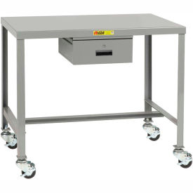 Little Giant®  Machine Table, 24 x 48 x 36, Swivel Casters w/Brakes, Drawer