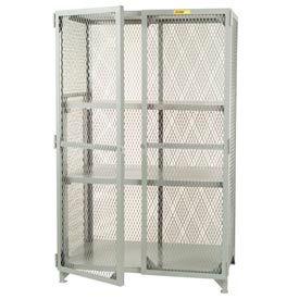 Little Giant®  All Welded Storage Locker, 2 Center Shelves, 36 x 72