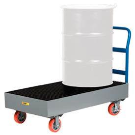 Little Giant® Spill Containment Cart SSB-5125-6PYBK - 33 Gallon Capacity