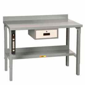 """Little Giant® 72""""W x 28""""D Steel Square Edge Workbench with Backstop, Adjustable"""