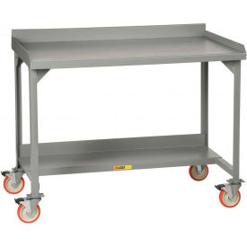 Little Giant®  Mobile W/B, Back/End Stop, Riser Shelf, Fixed Ht., 28 x 60