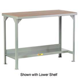 Little Giant®  Welded Workbench w/Open Base, Hardboard over Steep Top, 24 x 48