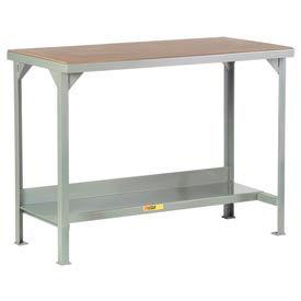 Little Giant®  Welded Workbench, Lower Shelf, Hardboard over Steep Top, 36 x 84