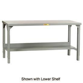 """Little Giant® 60""""W x 36""""D Steel Square Edge, Adjustable Welded Workbench w/Open Base"""
