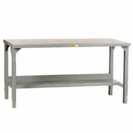 """Little Giant® 72""""W x 36""""D Steel Square Edge, Adjustable Welded Workbench w/Open Base"""