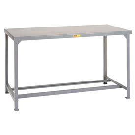 Little Giant®  Steel Square Edge  Welded Workbench w/Open Base, 36 x 84