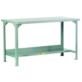 Little Giant®  Steel Square Edge Welded Workbench w/Lower Shelf, 24 x 60