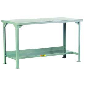 Little Giant®  Steel Square Edge  Welded Workbench w/Lower Shelf, 36 x 60