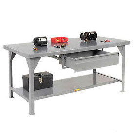 Little Giant®  7 Gauge Steel Workbench, Drawer, Fixed Height, 30 x 48