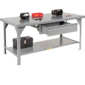 Little Giant®  7 Gauge Steel Workbench, Drawer, Fixed Height, 36 x 72
