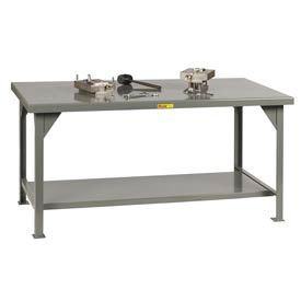 Little Giant®  Heavy Duty 7 Gauge Steel Workbench, Fixed Height, 42 x 84