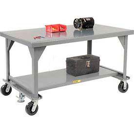 Little Giant®  Mobile Heavy Duty, 7 Gauge, Steel Workbench, 36 x 72