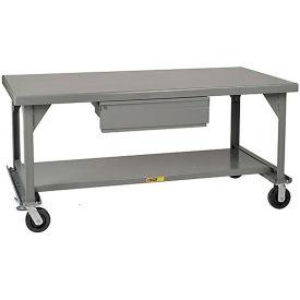 Little Giant®  Mobile Heavy Duty, 7 Gauge, Steel Workbench, Drawer, 36 x 72