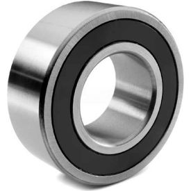 BL Double Row Angular Contact Bearings 5204-2RS, 2 Rubber Seals, Medium Duty, 20mm Bore, 47mm OD