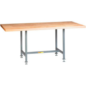 """Little Giant CRT-3672-LL 72""""W x 36""""D Industrial Table with Butcher Block Top"""
