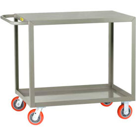 Little Giant All Welded Service Cart LG-3060-6PY, 2 Flush Shelves, 30 x 60 2000 Lb. Cap. by