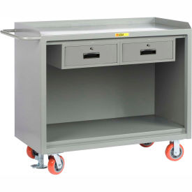 """Little Giant MB-2448-2DRFL   48"""" W Mobile Bench Cabinets, Double Storage Drawers"""