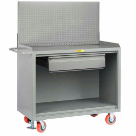 """Little Giant MB-2448-HDFL-PB 48""""W x 24""""D Mobile Service Bench, Drawer, Powder Coated Steel Top"""