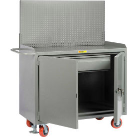 """Little Giant MB2D-2448HDFLPB 48""""W x 24""""D Mobile Service Bench, Drawer, Powder Coated Steel Top"""