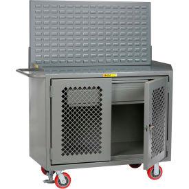 "Little Giant MBP2D-HDFL-LP 48""W x 24""D Mobile Service Bench, Drawer, Steel Top"