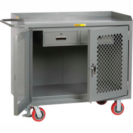"""Little Giant MBP2D2448-2DRFL  48"""" W Mobile Bench Cabinets, Double Storage Drawers, 2 Doors"""