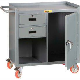 """Little Giant MC1D2436-2DRTL  36"""" W Mobile Bench Cabinet, 2 Drawers, 1 Door"""
