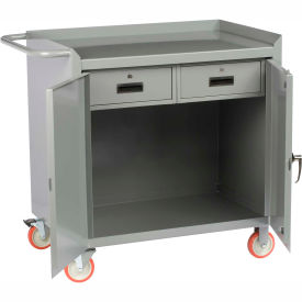 """Little Giant MC2D2436-2DRTL  36"""" W Mobile Bench Cabinet, 2 Drawers, 2 Doors"""