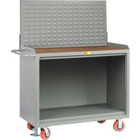 "Little Giant MH-2448-FL-LP 48""W x 24""D Mobile Service Bench, 1/4"" Hardboard Top"