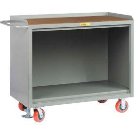 "Little Giant MH-2448-FL   48"" W Mobile Bench Cabinets, Floor Lock, Hardboard Top"