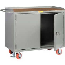 """Little Giant MH-2D-2448-FL  48"""" W Mobile Bench Cabinets,  Hardboard Top, 2 Doors"""