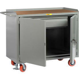 "Little Giant MH-2D-2448-HDFL  48"" W Mobile Bench Cabinets, Heavy-Duty Drawer Hardboard Top, 2 Doors"