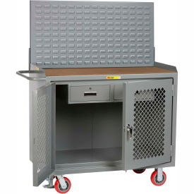"""Little Giant MHP2D-2DRFL-LP 48""""W x 24""""D Mobile Service Bench, 2 Drawers, 1/4"""" Hardboard Top"""