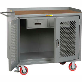 "Little Giant MHP2D2448-2DRFL  48"" W Mobile Bench Cabinets, Double Storage Drawers, 2 Doors"