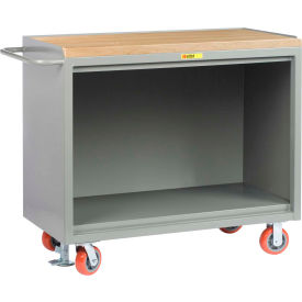 "Little Giant MJ-2448-FL   48"" W Mobile Bench Cabinets, Floor Lock, Butcher Block Top"