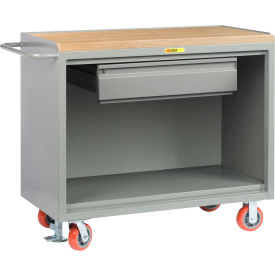 "Little Giant MJ-2448-HDFL  48"" W Mobile Bench Cabinets, Heavy-Duty Drawer, Butcher Block Top"