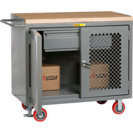 """Little Giant MJP2D-2448-HDFL  48"""" W Mobile Bench Cabinets, Heavy-Duty Drawer, 2 Clear View Doors"""