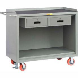 """Little Giant MM-2448-2DRFL   48"""" W Mobile Bench Cabinets, Double Storage Drawers,"""