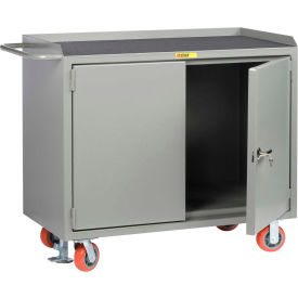 "Little Giant MM-2D-2448-FL  48"" W Mobile Bench Cabinets,  Non-Slip Vinyl Top, 2 Doors"